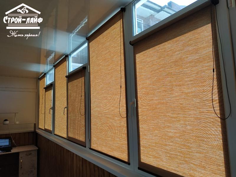 Рулонные шторы и жалюзи фото